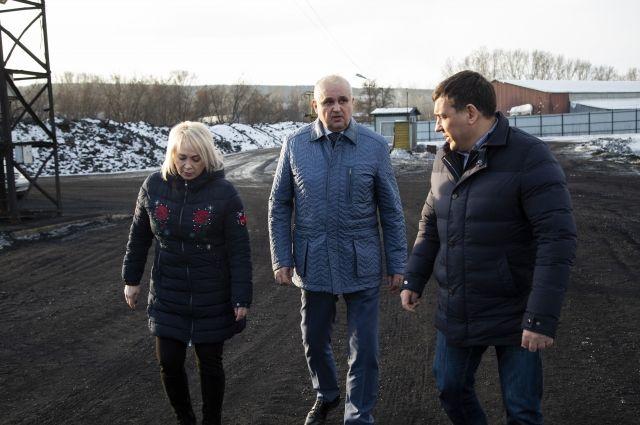 Губернатор вместе с главой Новокузнецка осмотрел территорию ООО «КМК-Энерго».