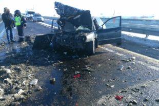 На трассе Оренбург–Илек в ДТП с фурой пострадали два человека