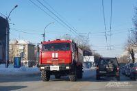 Несмотря на пробки, пожарные доехали быстро.