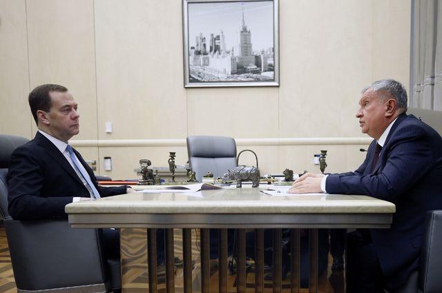 Дмитрий Медведев и Игорь Сечин.
