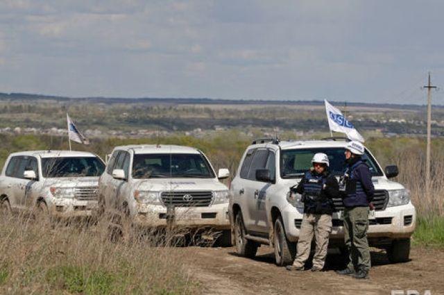 Миссия ОБСЕ заметила на Донбассе четыре неопознанных реактивных самолета