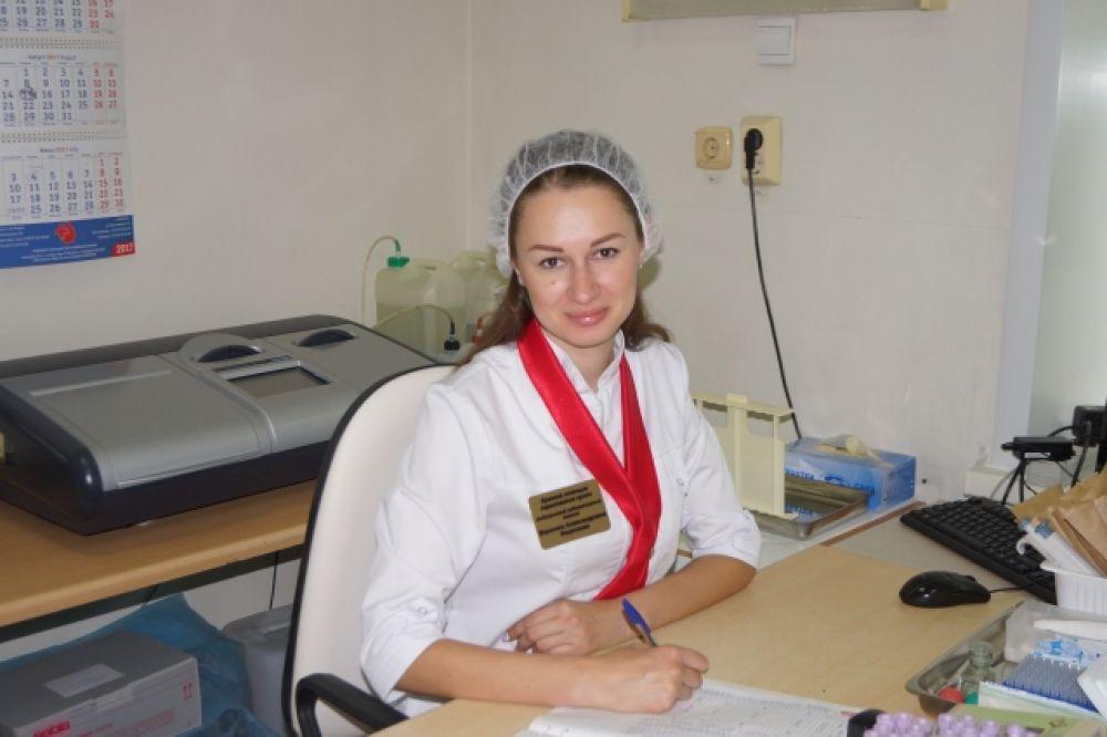 Федосеева Вероника, медицинский лабораторный техник клинико-диагностической лаборатории КГБУЗ «Краевая станция переливания крови».