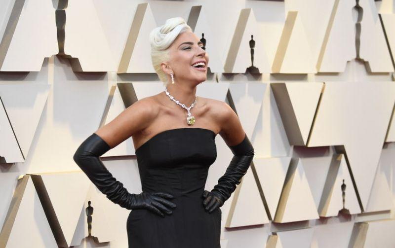 Мы не могли вновь упомянуть о Леди Гаге. Кстати, после их исполнения песни с Купером, мир не перевернулся - Гага, пришедшая на церемонию одна, вовсю веселилась и позировала со своей наградой. Но поклонники отметили не только ее победу, но и колье от Тиффани стоимостью, немного-немало, почти 30 миллионов долларов! Но элегантность и красота того стоят.