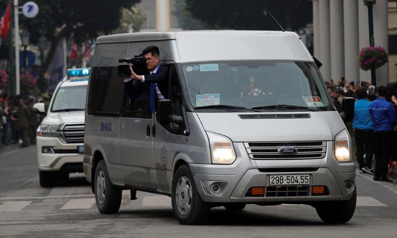 Кортеж северокорейского лидера Ким Чен Ына.