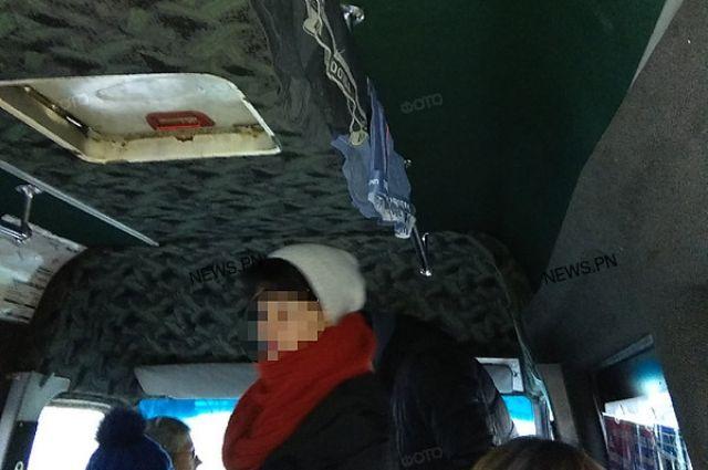 В Николаеве водитель маршрутки развесил трусы на поручне маршрутки: детали