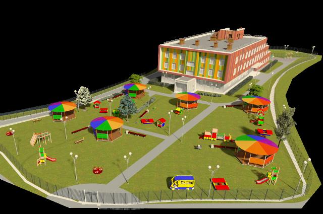Детский сад рассчитан на 160 мест.