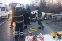 В Закарпатской области на автодороге Мукачево-Рогатин (объездная дорога г. Хуст) произошла авария с участием трех автомобилей.
