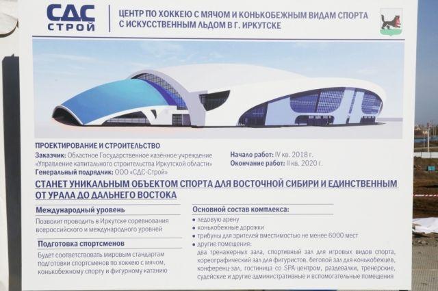 Объект возводится в Свердловском районе Иркутска.
