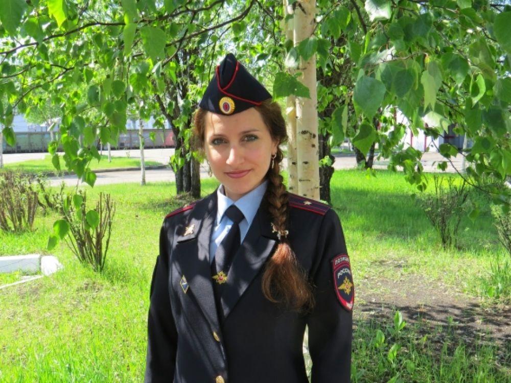 Евгения Игнатенко, начальник отделения дознания Тындинского ЛО МВД России на транспорте  майор полиции.
