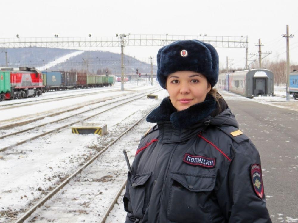 Капленко Виктория, полицейский ОВППСП Тындинского ЛО МВД России на транспорте ст.сержант полиции.