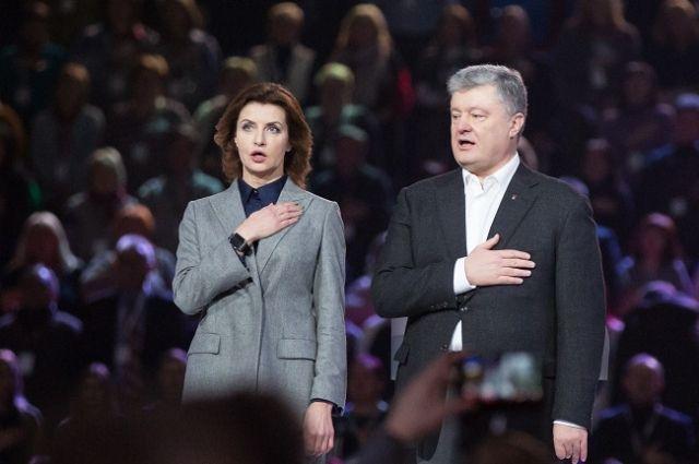 Петр Порошенко с супругой.