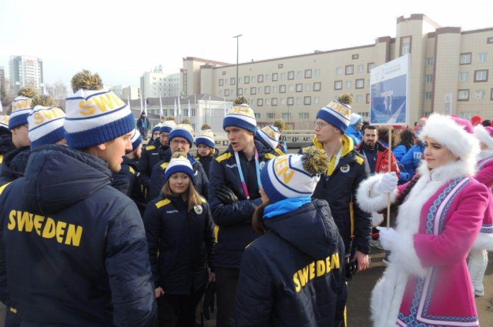 Делегация из Швеции.