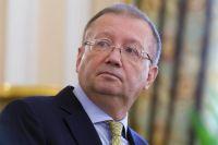 Посол РФ в Великобритании Александр Яковенко во время пресс-конференции в Лондоне.