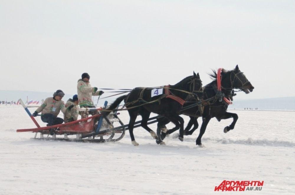 Победу одержали участники из Улан-Удэ, им также вручили  награду за самую нарядную упряжку.