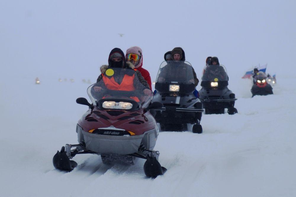 В акции главным критерием для участия было наличие снегохода.