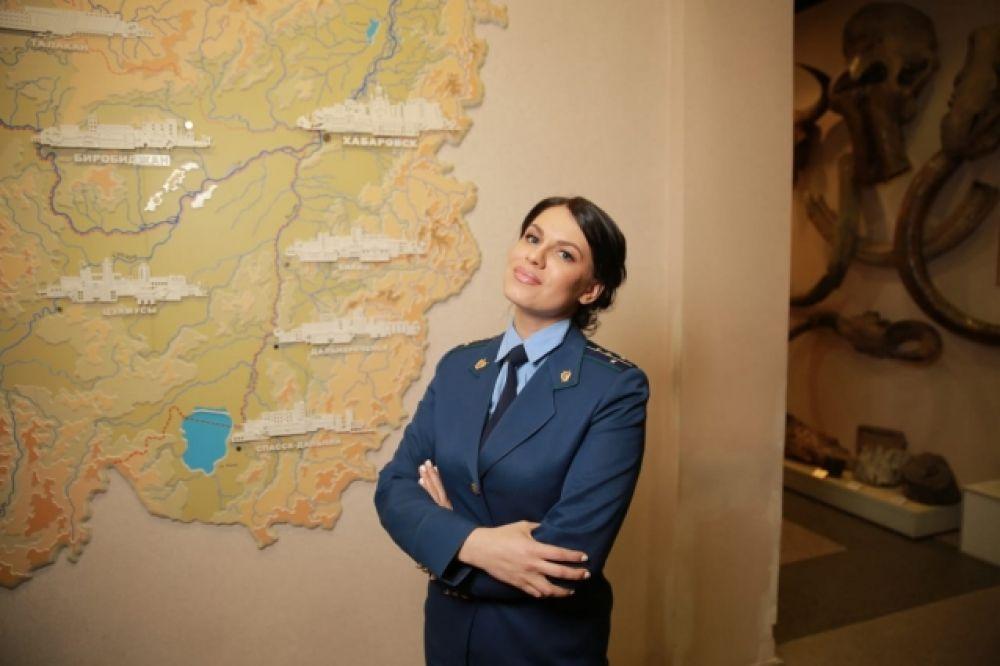 Старший помощник прокурора Хабаровского района Хабаровского края Ковтунова Таисия,34 года.