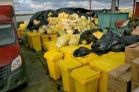 Вредные отходы хранятся без контейнеров, прямо на улице.