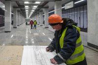 Строительство вНовой Москве станции метро «Коммунарка» наСокольнической линии. Открытие запланировано намай 2019 г.