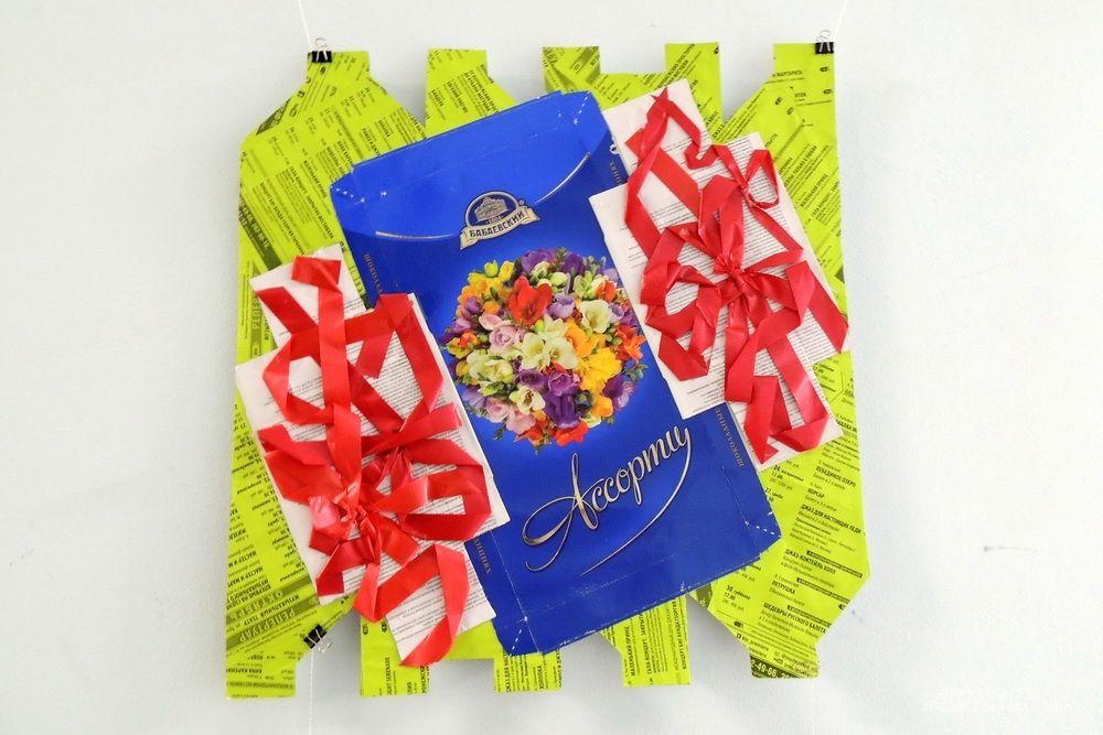 Ещё одна коробка от конфет стала произведением искусства.