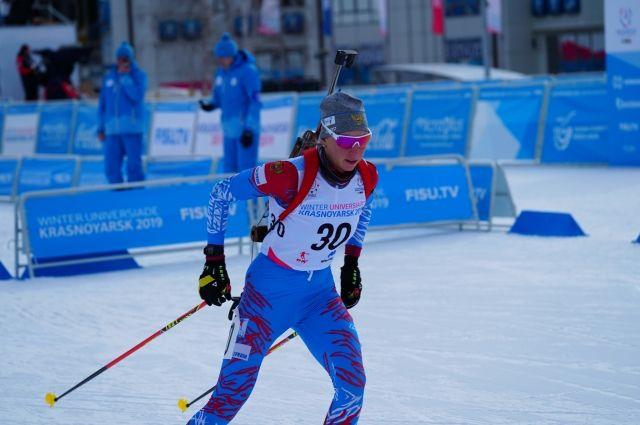 Екатерина Мошкова - победитель спринтерского забега на 7,5 км.