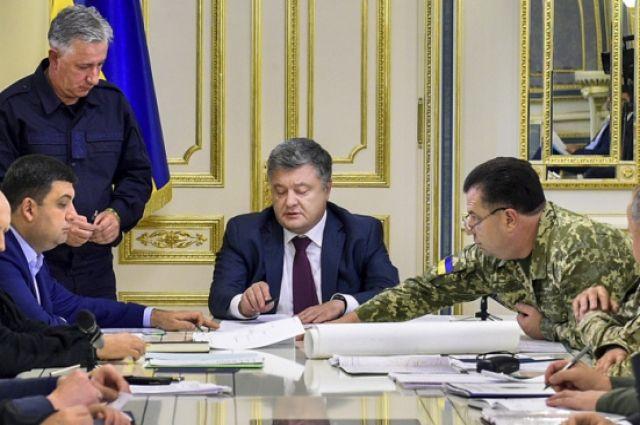 Порошенко объявил о двух стратегических решениях по итогам заседания СНБО