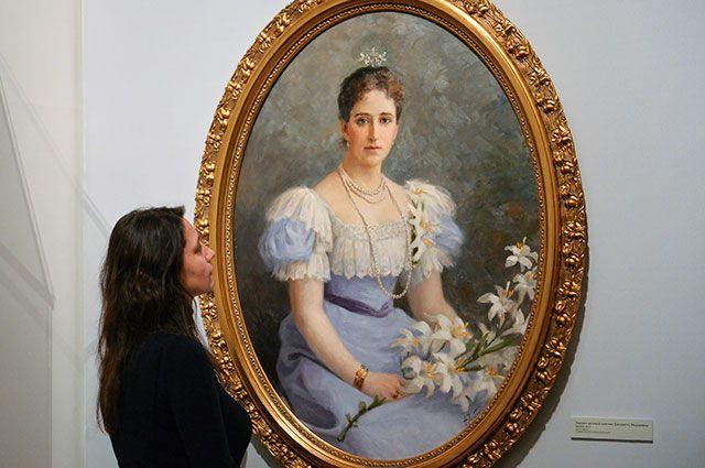 Портрет великой княгини Елизаветы Федоровны работы Ф. И. Рерберга.