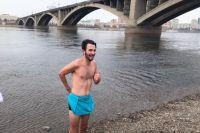 После бани канадец решился войти в Енисей.