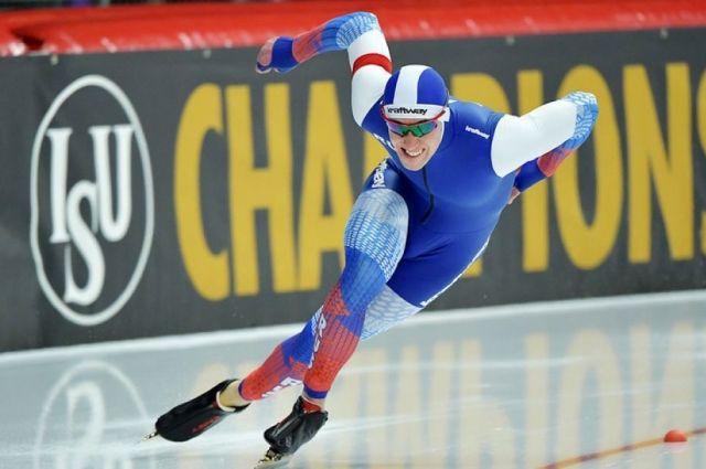 Алтайский конькобежец Муштаков