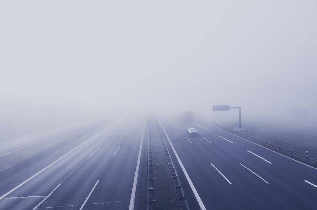 На трассе «Тюмень - Омск» снижена видимость из-за тумана