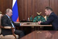 Встреча президента РФ Владимира Путина с главой компании «Газпром» Алексеем Миллером