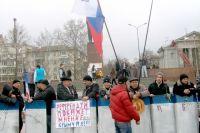Симферополь накануне референдума 16 марта 2014 года