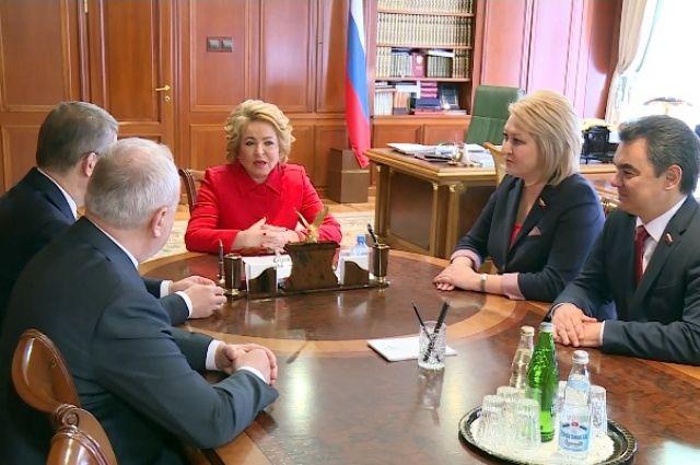 Встреча руководителей региона и сенаторов от РБ с Валентиной Матвиенко в рамках Дней Башкирии.