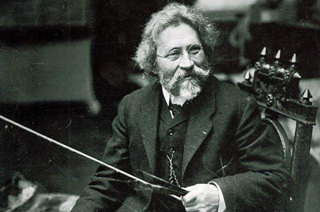Илья Ефимович Репин. Фотография 1909 года.