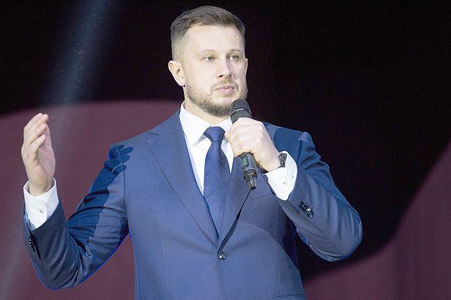 Лидер партии «Национальный корпус» Андрей Билецкий выступает на съезде партии в Киеве. На съезде принято решение не участвовать в предстоящих президентских выборах, а принять участие в парламентских, которые пройдут осенью 2019 года.