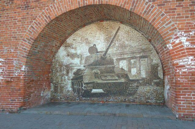 Танк Т-34 на монументе «Наша Победа»