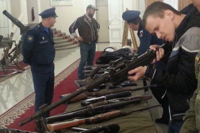 Жителям Хабаровского края покажут оружие террористов.