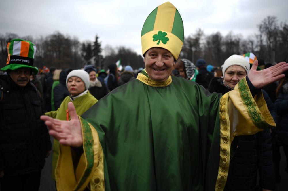 В Москве тоже есть почитатели ирландского праздника.