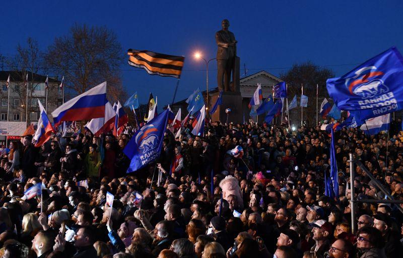 Концерт в Симферополе в честь пятилетия воссоединения Крыма с Россией.