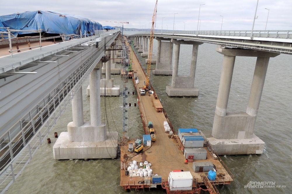 После окончания стройки временный рабочий мост будет демонтирован.