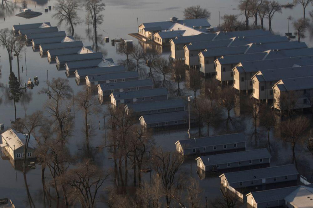 Жилые дома в штате Небраска.