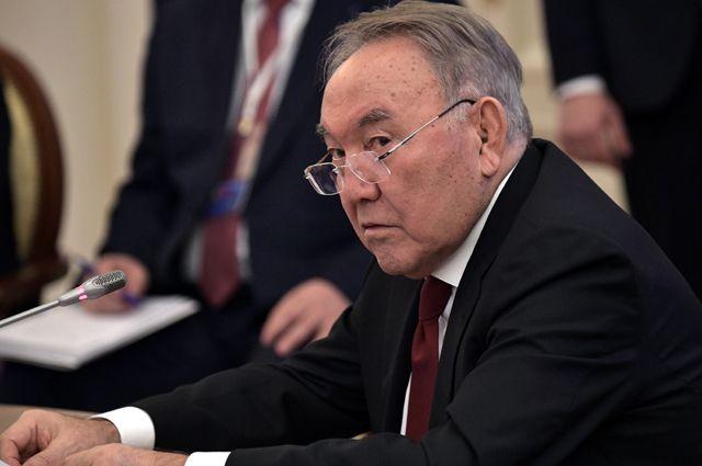 Президент Казахстана Нурсултан Назарбаев. 2018 г.