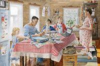 Первый шаг чиновники сделали: представление о доме для многодетных у них теперь есть. Даже картину «Семья» Бориса Заболоцкого разместили на сайте. Дело за малым: дать земли или денег побольше.