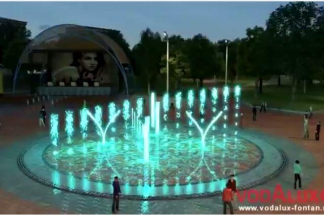 Проект фонтана предполагает установку отверстий для струй в плоскости мощения и в выключенном состоянии фонтана можно будет ходить прямо по его поверхности. Также конструкция фонтана позволит заливать на его поверхности каток и устанавливать елку.