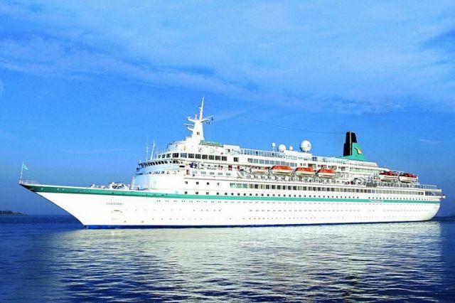 Albatros открыл приморский сезон для океанских лайнеров.