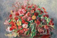 Корзина цветов, 1890, Пьер Ренуар.