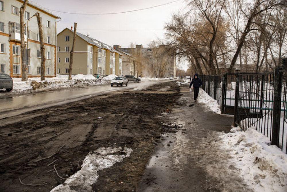А кое-где в городе уже растаял снег и показалась земля.