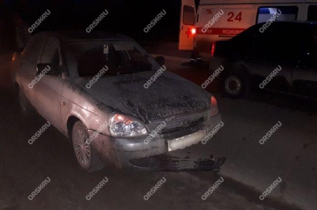 В Орске сбитую женщину переехал автомобиль