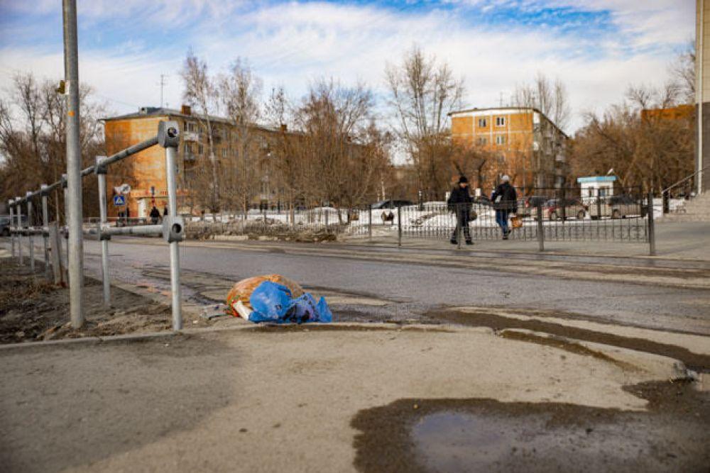 А некоторые, не стесняясь, оставляют мусор прямо на дорогах.