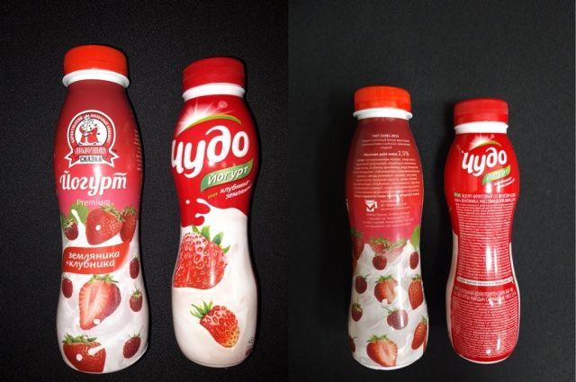 Этикетки йогуртов, которые предстоит оценить