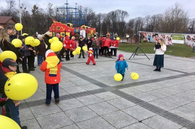 На набережной Верхнего озера прошло мероприятие для детей с синдром Дауна